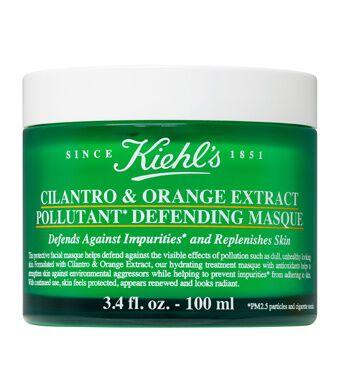 Masque anti-pollution à la coriandre et à l'extrait d'orange